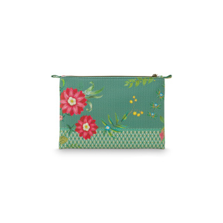 Pip Studio Cosmetic Flat Pouch Medium Fleur Mix Green 24x15.5x1cm